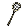 Cartoon squash racket Royalty Free Stock Images