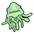 Cartoon squid Royalty Free Stock Photography
