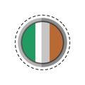 Cartoon st patricks day irish flag emblem