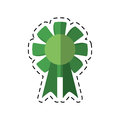 Cartoon st patricks day rosette ornament icon