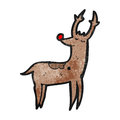 Cartoon stag Royalty Free Stock Images