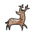 Cartoon stag Stock Images