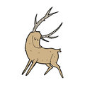Cartoon stag hand drawn illustration in retro style vector available Royalty Free Stock Photo