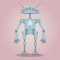 Cartoon standing cyborg this is file of eps format Royalty Free Stock Image
