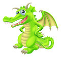Cartoon standing dragon an illustration of a green happy character with hand on hips Stock Images