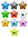 Cartoon Star, Numbers, Colours Royalty Free Stock Photography