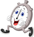 Cartoon stopwatch running Royalty Free Stock Photo