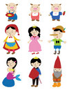 Cartoon story people icon Stock Images