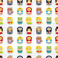 Cartoon story people seamless pattern Stock Images