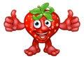 Cartoon Strawberry Fruit Mascot Character Royalty Free Stock Photo