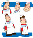 Cartoon study of a chef Royalty Free Stock Photo