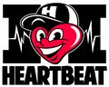 Cartoon style character, funny heart with the baseball cap, vector logo.