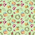 Cartoon style christmas seamless pattern Royalty Free Stock Photo