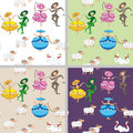 Cartoon-style Pastoral  Backgr...