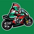Cartoon style of sportbike Wheelie