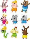 Cartoon summer animal icon Stock Photo