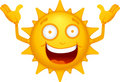 Cartoon Sun Characters 1 Stock Images