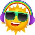 Cartoon Sun Characters 4 Royalty Free Stock Photo