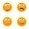 Cartoon Sun Icons Emotions Royalty Free Stock Image