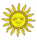 Cartoon Sun smiling Royalty Free Stock Photography