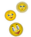 Cartoon sunshine Royalty Free Stock Photo