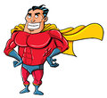 Cartoon Superhero in a classic pose Stock Image