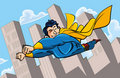 Cartoon superman flying Royalty Free Stock Photo