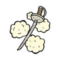Cartoon sword Royalty Free Stock Image