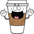 Cartoon Takeout Coffee Cup