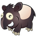 Cartoon tapir Stock Images