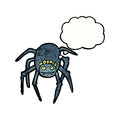 Cartoon tarantula Stock Images