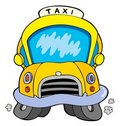Cartoon taxi car Stock Photography