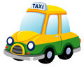 Cartoon taxi car Royalty Free Stock Photo