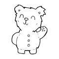 Cartoon teddy bear black and white line in retro style vector available Royalty Free Stock Photos