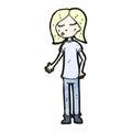 Cartoon teenager Stock Image