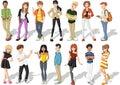 Cartoon Teenagers
