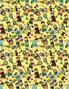 Cartoon Tennis Players seamless pattern Royalty Free Stock Photos
