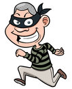 Cartoon thief running vector illustration of Royalty Free Stock Images