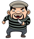 Cartoon thief vector illustration of Royalty Free Stock Images