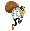 Cartoon thief vector image of funny evil Stock Photos