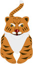 Cartoon tiger cute cub image Royalty Free Stock Photos