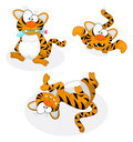 Cartoon tigers Stock Images