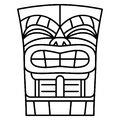Cartoon Tiki Idol Isolated On White Background Royalty Free Stock Photo