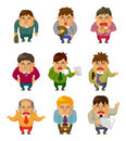 Cartoon Tired businessman Royalty Free Stock Photo