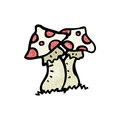 Cartoon toadstools Royalty Free Stock Images