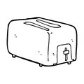 Cartoon toaster black and white line in retro style vector available Stock Image