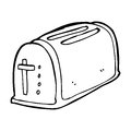 Cartoon toaster black and white line in retro style vector available Stock Photo