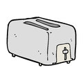 Cartoon toaster hand drawn illustration in retro style vector available Royalty Free Stock Photography