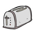 Cartoon toaster hand drawn illustration in retro style vector available Stock Image