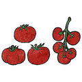 cartoon tomatoes Royalty Free Stock Photo